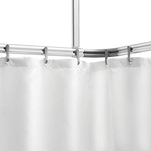 Sealskin Komplett Set Easy Roll Duschvorhangstange, Farbe: Chrom-matt, Duschvorhanghalterung zur individuellen Montage auf Maß, Aluminium