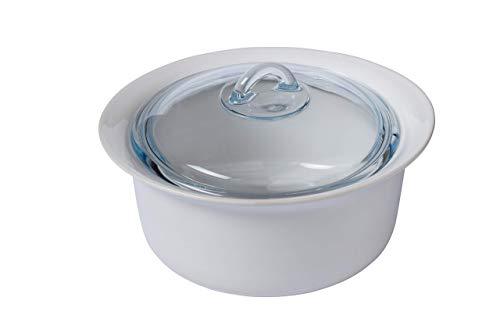 Pyrex Supreme Casserole avec Couvercle, céramique, Blanc