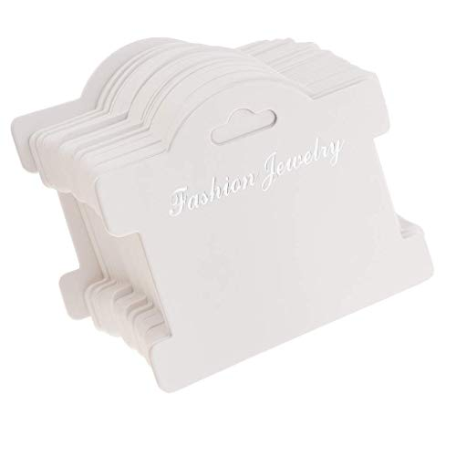 100pcs Jewelry Display Cards Showing Tags Jewelry Bracelet Display Cards - 95x75mm White Paper