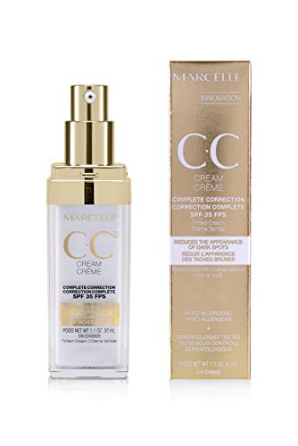 MARCELLE CC Cream Complete Correction Tinted Cream SPF 35, Golden Glow, 1 Fluid Ounce