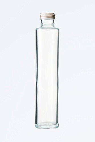 ハーバリウム、ドレッシング、タレ、オイルで使えるガラス瓶・透明瓶・角瓶SSE-200A ((ふた)アルミCAP)