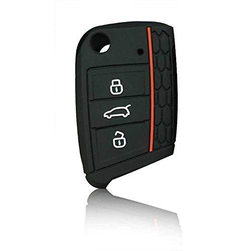 MPOQZI Juego de Funda de Silicona para Llave de Coche, Apto para VW Polo Golf 7 MK7 para Skoda Octavia Combi A7 para Seat Leon Ibiza CUPTRA para Llave Volkswagen
