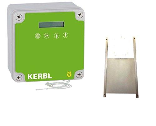 BTV Hühnerklappe elektronischer Pförtner mit Aluklappe 40 x 50cm von Kerbel