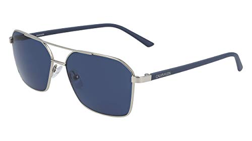 Calvin Klein EYEWEAR CK20300S gafas de sol, SILV OSCURO, 5815 para Hombre