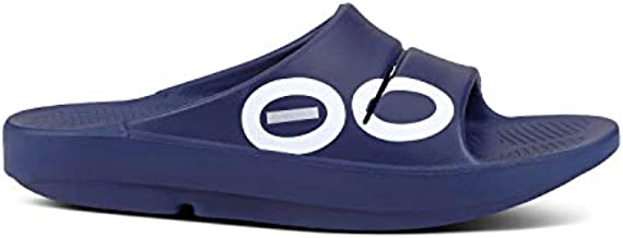OOFOS - Unisex OOahh - Post Exercise Active Sport Recovery Slide Sandal - Navy Sport - M9/W11