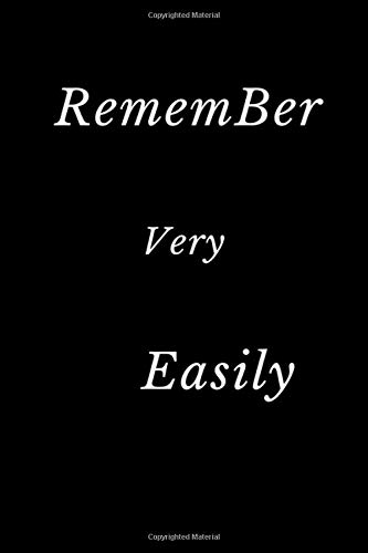RememBer Very Easily: RememBer Very Easily is Onenote Password NoteBook Alphabetical Log Book Cover Color Black Frame 6
