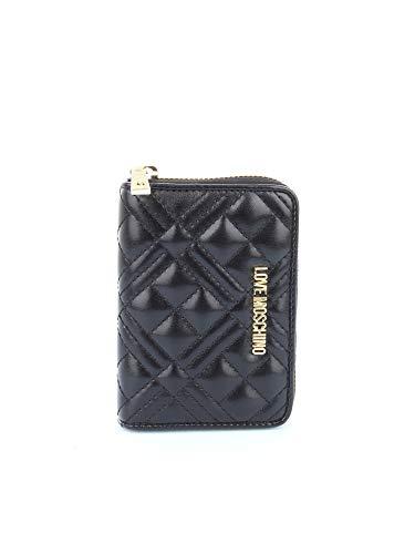 Love Moschino Moschino Damen gesteppter Reißverschluss um die Brieftasche Ein Größe Schwarz