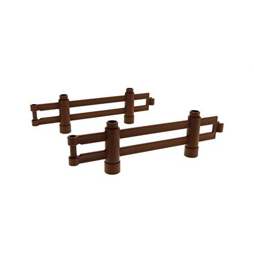 Bausteine gebraucht 2 x Lego Duplo Zaun Reddish Rot Braun 1x10x2 Zäune Gatter Gehege für Set 5634 10584 98460 47548