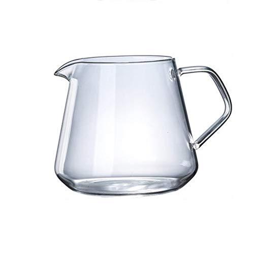 Cafetera combinada 400 ml - 600 ml de vidrio para compartir café, servidor de café, jarra para preparar café casero, hecho a mano, cafetera de hielo y goteo, cafetera (color: 600 ml)