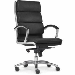 Sitwell Bürostuhl Dream Bonded-Leder schwarz mit Armlehnen