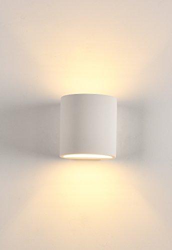 Pianeta LED - W3134 - Applique porte-lampe LED murale G9, en résine de plâtre, 11 x 10 x 10 cm Bianco