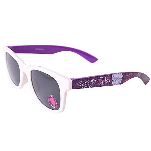 TE-Trend Frozen Kinder Mädchen Girl Sonnenbrille Kindersonnenbrille Sonnenschutz UV400 Brille Motivbrille Elsa und Anna Weiß Lila