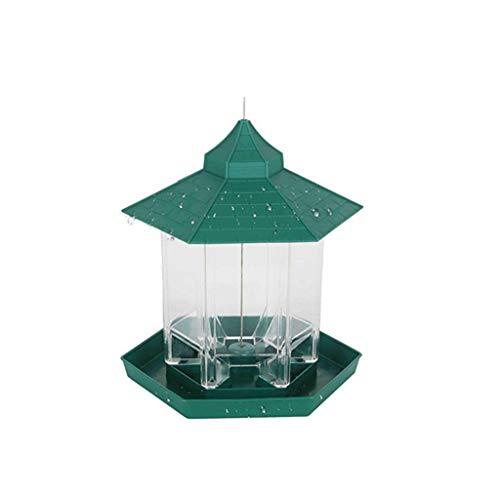 MXueei ZfgG Opknoping Wild Bird Feeder, Outdoor Vogelvoeders Voedsel Container Gazebo Vogelvoeder, Perfect Paviljoen vorm, Groen