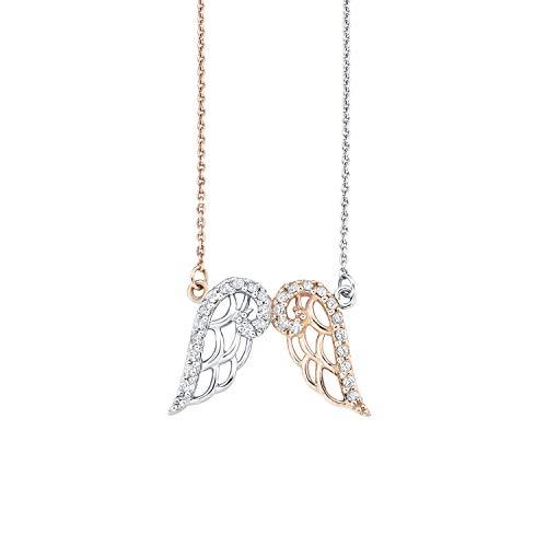 amor Kette mit Anhänger für Damen, Sterling Silber 925, Zirkonia Flügel