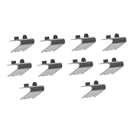 Pack 10 x Soportes Cremallera CON TOPE en Acero Inoxidable AISI-304 (1 mm) | Soporte para Baldas dentro de Armarios Frigorificos o Vitrinas Refrigerada | Ideal para Muebles de Hostelería