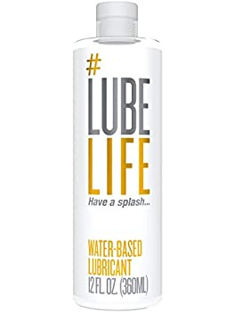 #LubeLife Water Based Personal Lubricant 12 Ounce Sex Lube for Men Women and Couples