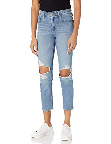 Levi's Women's 724 High Rise Straight Crop Jeans, Good Measure, 28 (US 6)