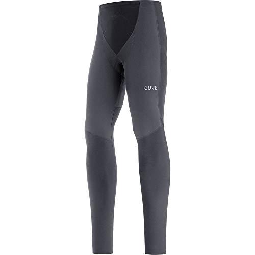 GORE WEAR Pantaloni termici da ciclismo a compressione per uomo, C3, Partial GORE-TEX INFINIUM, L, Nero