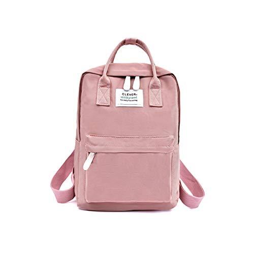 NICOLE & DORIS Rucksack für Damen Handtaschen Lässiger wasserdichte Rucksack Mädchen Schulrucksack für Laptop Rosa