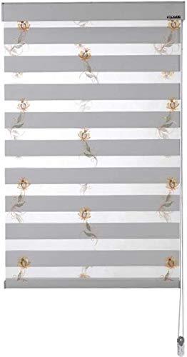cortinas venecianas Persianas de rodillos de cebra for ventanas Día y ciegas nocturnas for Windows Translúcido o Blackout Window Roller Pied Roller Dual Roller Shades con instalación de accesorios dec