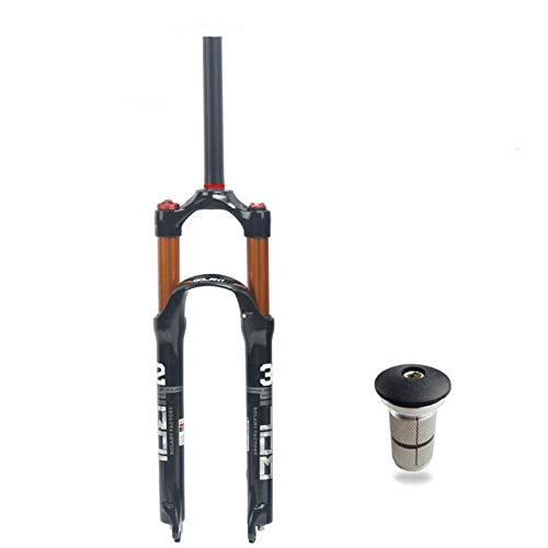 SASCD Bicicleta de montaña Bifurcación 26/27.5/29 Pulgadas MTB Supento de Bicicleta Tenedor 9mm Liberación rápida Ultralight Integrated Bike Fork (Color : 29 Straight Remote)