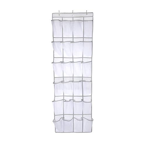 #N/V 24 bolsillos grandes de malla no tejida, bolsa de almacenamiento para colgar detrás de las puertas, ahorro de espacio, accesorios para el hogar