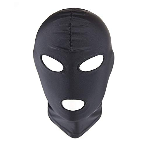 Soochat Full Cover Spandex Zentai Hood Mask Elastic Breathable Open Eyes And Mouth Cosplay Halloween Costume Hood Mask