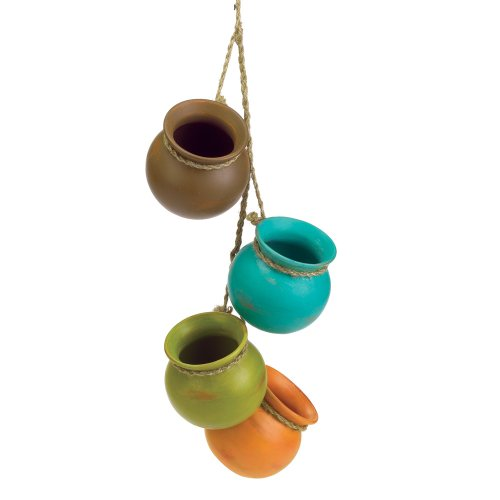 Accent Plus Gifts & Decor Dangling Mini Ceramic Pot Set