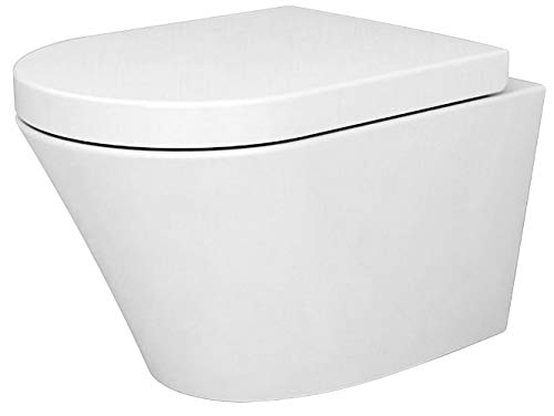 Spülrandloses WC 1088R inkl. Softclose Deckel, Softclose-Sitz:Standard