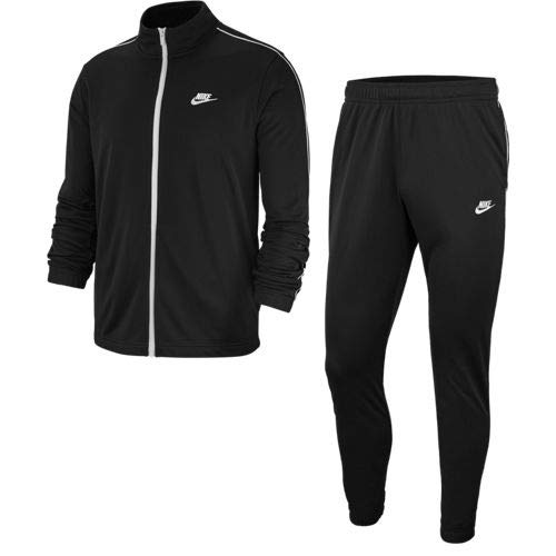 Nike Mens M NSW Ce TRK Suit Pk Basic Tracksuit, Black/White/White, M