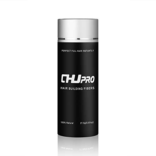 CHJPRO Hair Building Natural Keratin Fibers for Men & Women to Conceal Thinning Hair Instantly(Black)