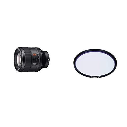 Sony SEL-85F14GM G Master Porträt Objektiv (Festbrennweite, 85 mm) schwarz + Sony VF77MPAM.AE Carl Zeiss T* Schutzfilter (77mm)