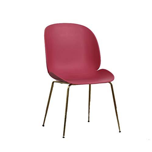 HXF - Taburete moderno minimalista de plástico para el hogar, silla de comedor, silla de dormitorio, duradera (color: rojo)