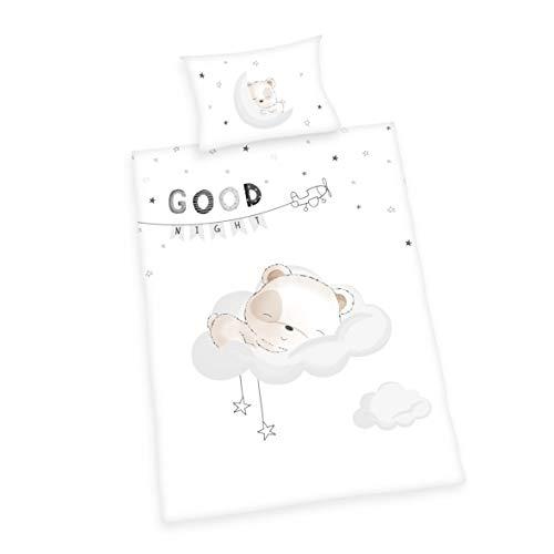 Herding Baby Best Parure de Lit, Coton, Blanc, 40 x 60 cm, 100 x 135 cm