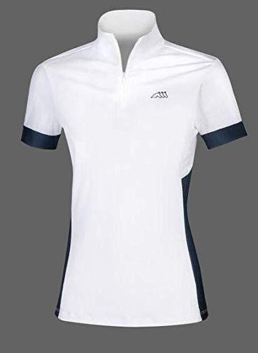Equiline Estelle Damen Turnier Polo-Shirt Weiß Blau FS 2019, Eq19_FS_Gr.:M
