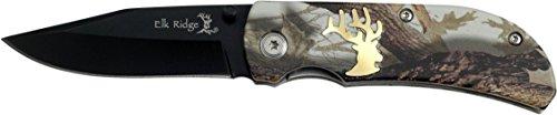 Elk Ridge Taschenmesser Hunter Camo Griff mit schwarzer Klinge, Länge geschlossencm: 8,89, ELKR-1056