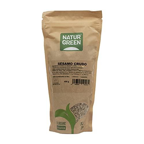 NaturGreen Semillas de Sésamo Bio, Sésamo Crudo, Semilla Natural, Producto Ecológico - 450g