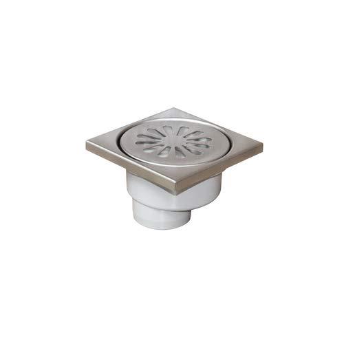 Siphon de douche carré en acier inoxydable pour sol de salle de bain, cuisine, balcon, garage, WC