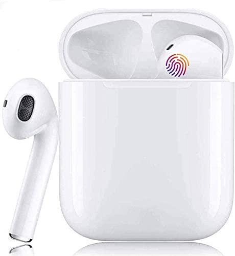 Auricolare Bluetooth, auricolare wireless, auricolare in-ear, con microfono integrato, scatola di ricarica, smart touch, impermeabile IPX5, adatto per iPhone/Android/Huawei