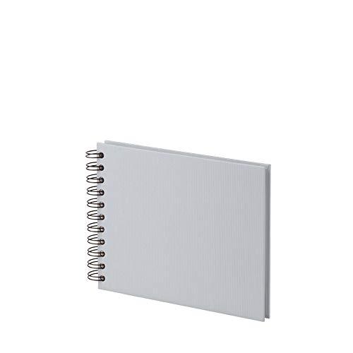 Rössler 1329452171 - S.O.H.O. Wire-O Fotoalbum offwhite, 195 x 145 mm, 40 Seiten, stone