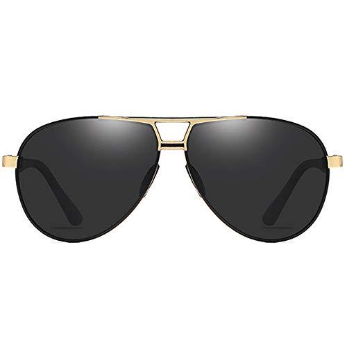 SWNN Sunglasses Las Gafas De Sol UV400 Antideslumbrantes De Metal Tienden A Las Gafas De Sol De Conducción for Hombre En Gris/Negro/Marrón/Verde/Amarillo (Color : Black)