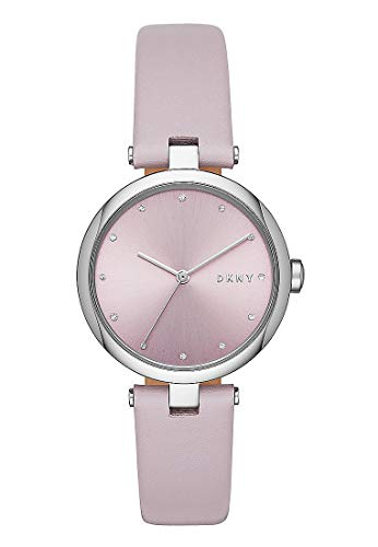 DKNY Eastside Uhr in Flieder mit echtem Lederarmband für Damen NY2813