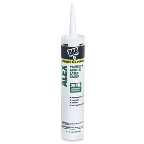 10.1 Oz Cartridge 18065 DAP Alex Painter's Acrylic Latex Caulk - White