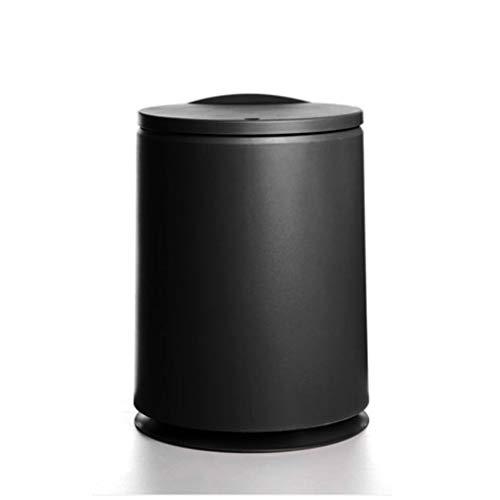 Bote De Basura Bote de basura de plástico con tapa tipo prensa 10L Cubo de basura clasificado Cubo de basura Papelera para cocina Baño Dormitorio Oficina Sala de estar Exquisito Bote De Basura Interio