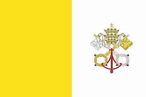 U24 Aufkleber Vatikan Flagge Fahne 12 x 8 cm Autoaufkleber Sticker