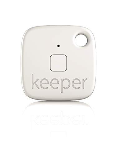 Gigaset keeper Schlüsselfinder (mit Bluetooth-Beacon und Signalton, LED-Licht zum finden des Schlüssels) weiß