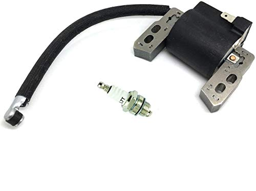 Lucky Seven 590454 Ignition Coil Replacement for Briggs & Stratton799381 790817 692605 802574 Magneto Armature,Fit for Briggs & Stratton Engine Models:129H00 Series(0005-0185) Engine + L7T Spark Plug