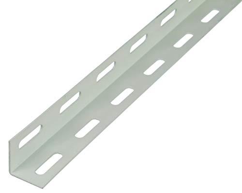 GAH-Alberts 432102 Winkelprofil | weiß kunststoffbeschichtet | 1000 x 27 x 27 mm