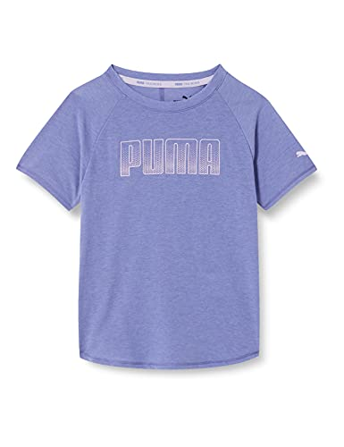 PUMA Mädchen Runtrain Tee G T-shirt, Hazy Blue, 176