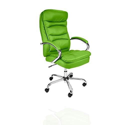 TPFLiving XXL Bürostuhl Queens Premium, ergonomisch gepolsterter Schreibtischstuhl mit abgebremsten Rollen, Moderner Chefsessel aus Kunstleder, Belastbar bis 210kg
